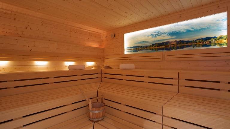 Sauna im Urlaub im Yachthotel
